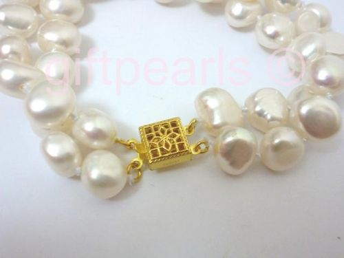 Double-Strand Baroque pearl bracelet.